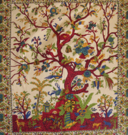 Tapestry Single Beige Tree of Life  Also from AFG (856) BEN