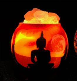 Salt Lamp Diffuser w/ Buddha w/ Dimmer Cord HCL