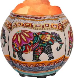 Salt Lamp Diffuser w/Ethnic Elephant & Dimmer Cord HCL