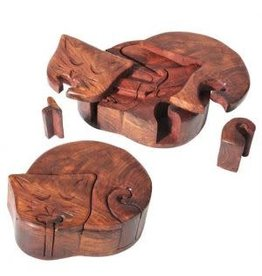 Box Wood Puzzle Cat (S3) SI