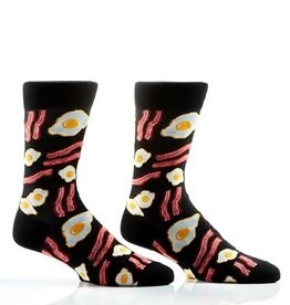 "Socks- Men's Crew ""Breakfast"" Bacon and Eggs GC"