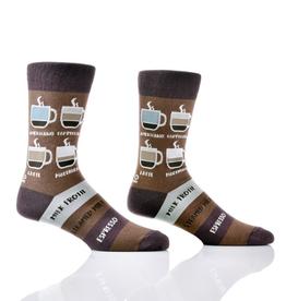 Socks- Men's Crew Know Your Coffees GC