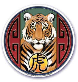 Sticker Round Tiger Sun MA