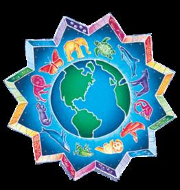 """Sticker Animal Medallion 6"""" SJ"""