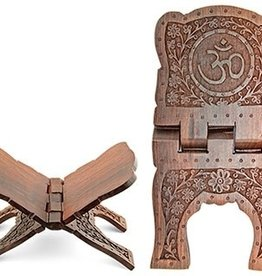"""Wooden Book Holder Om Symbol 13""""L OI"""