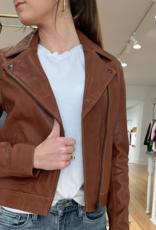 ABLE Maha Leather jacket Whiskey