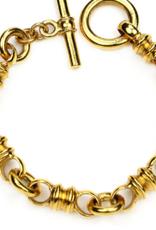 Ben-Amun 20402-Gold Link Bracelet