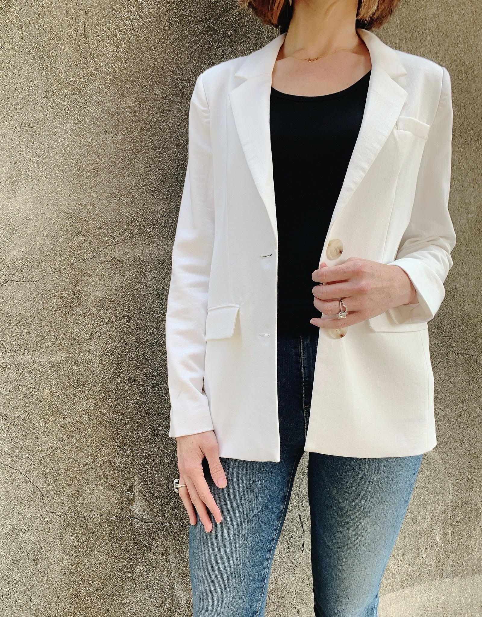 FRNCH Women's Woven Jacket White