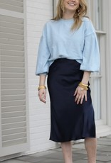 Lucy Paris Paola Bias Skirt Navy