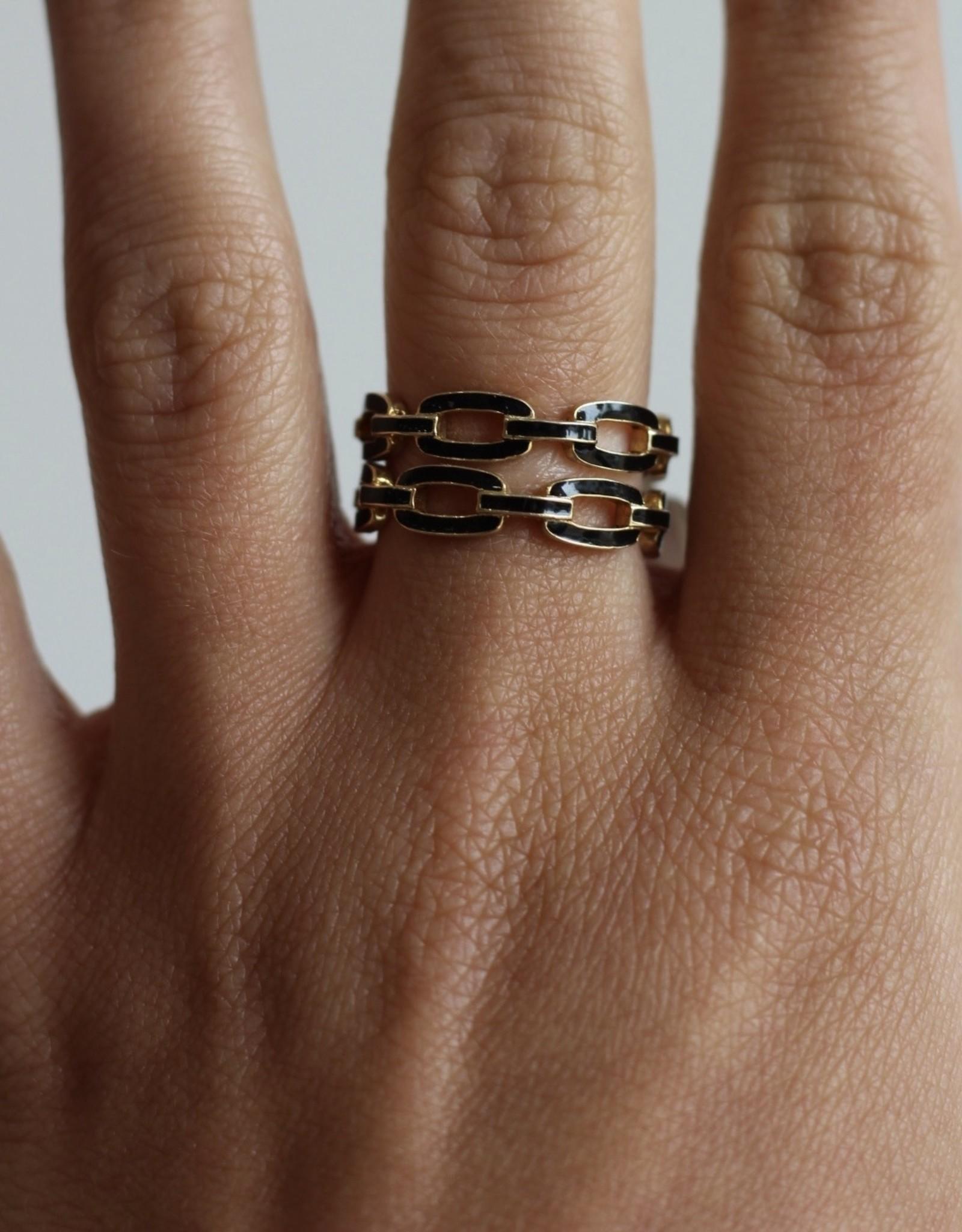 Jennifer Zeuner Carmine Enamel Ring