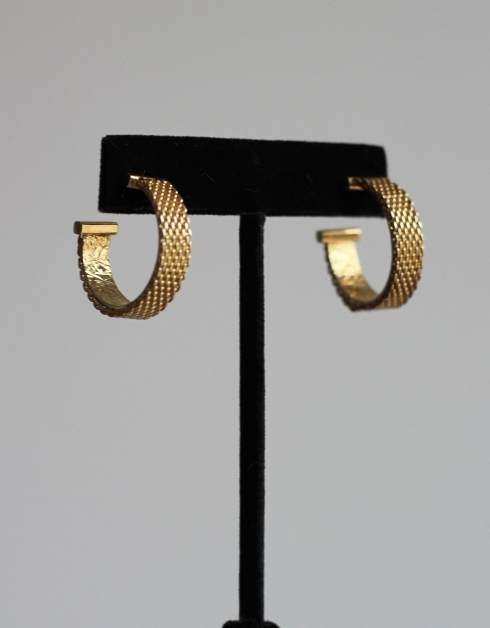 Jennifer Zeuner Josefina Small Mesh Gold Hoop