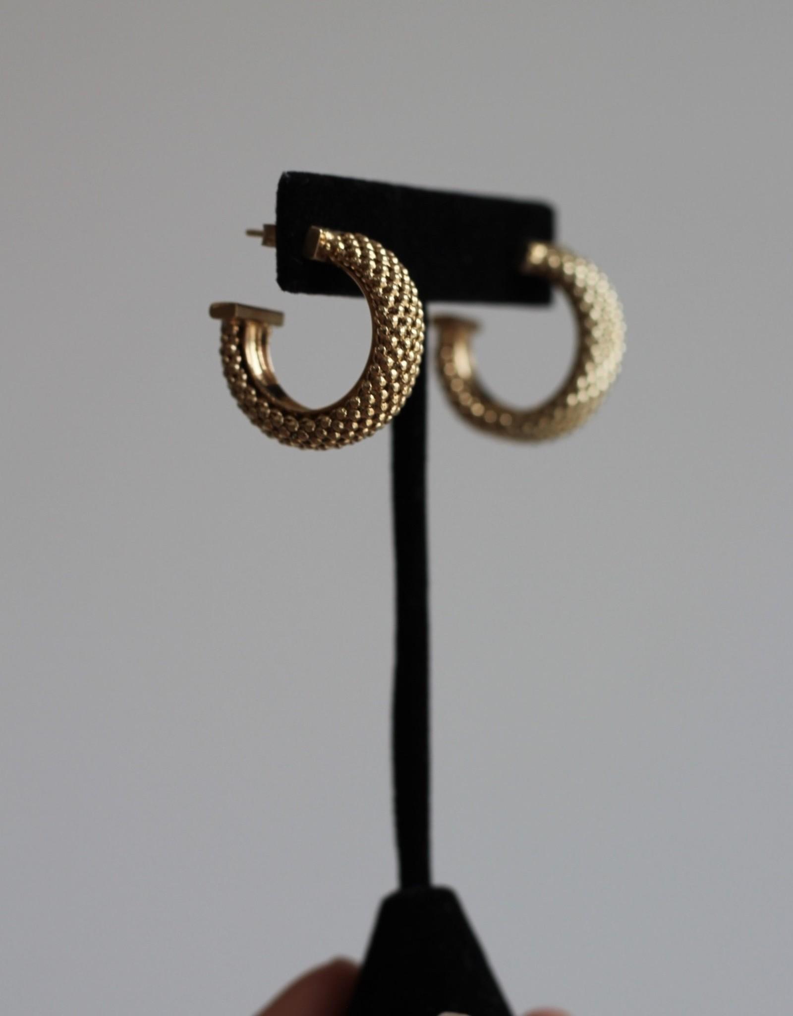 Jennifer Zeuner Lucia Small Gold Hoops