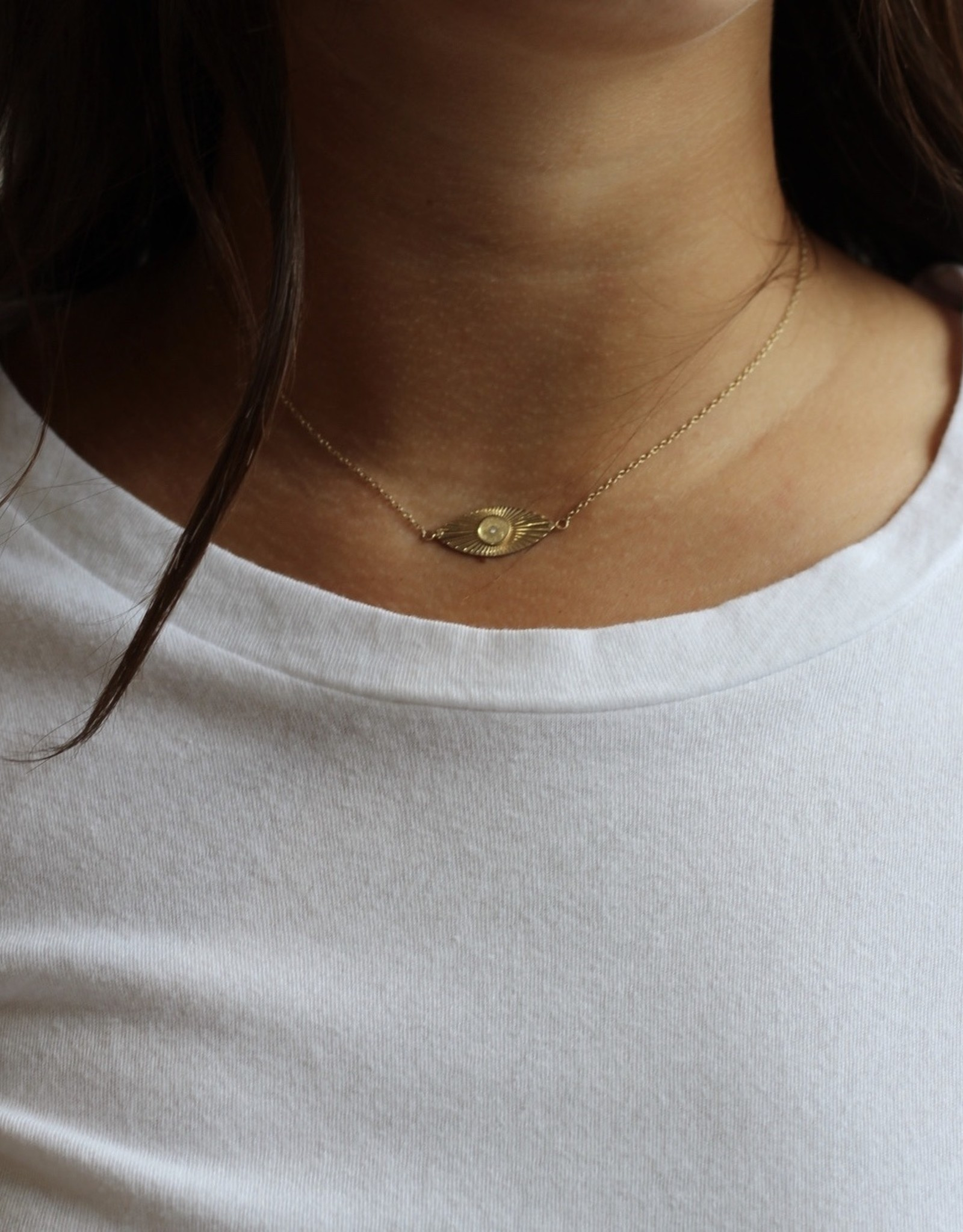 Jennifer Zeuner Diamond Eye Necklace