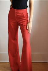 Halston Back Pleat Pant