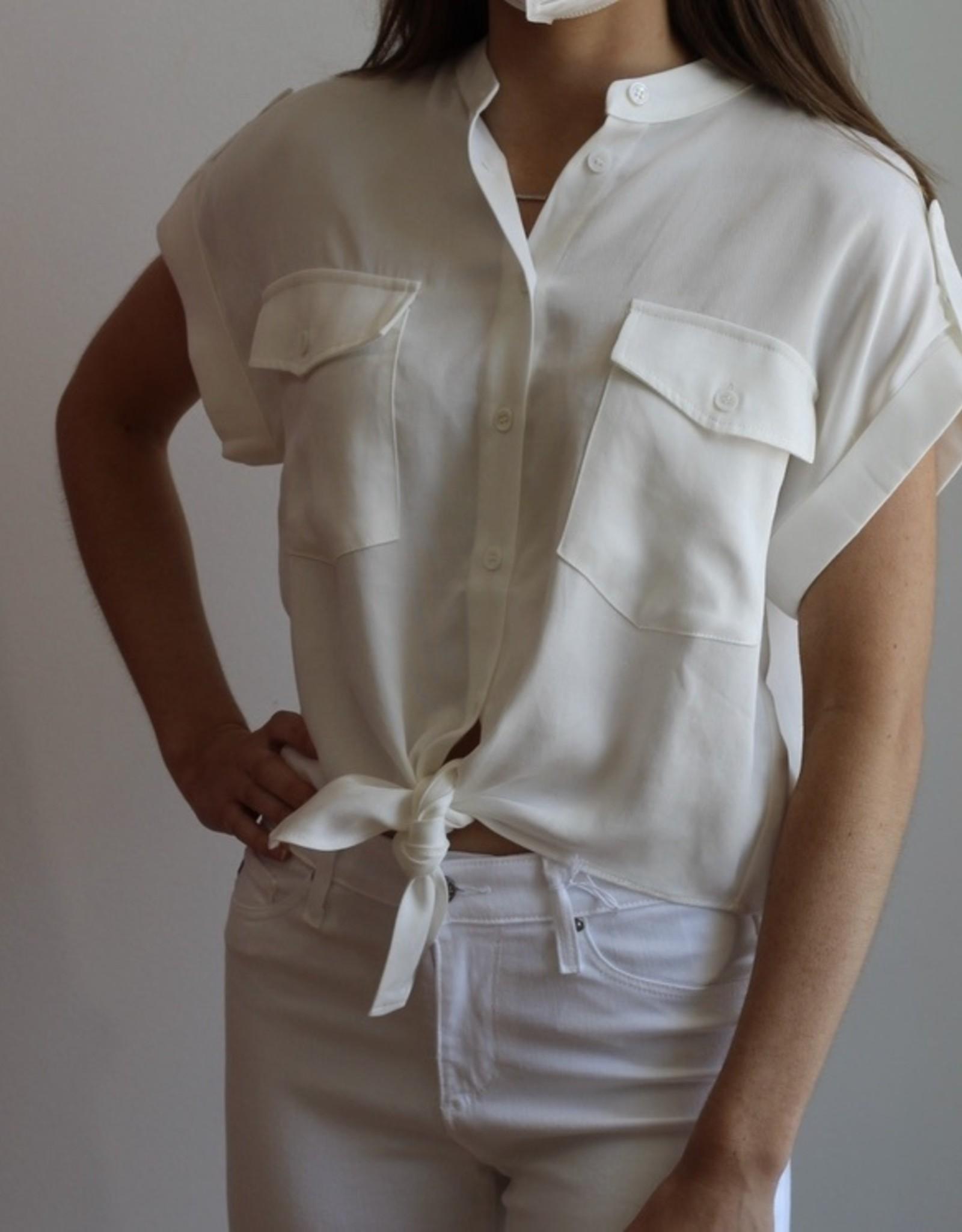 FRNCH Celene White Button-up