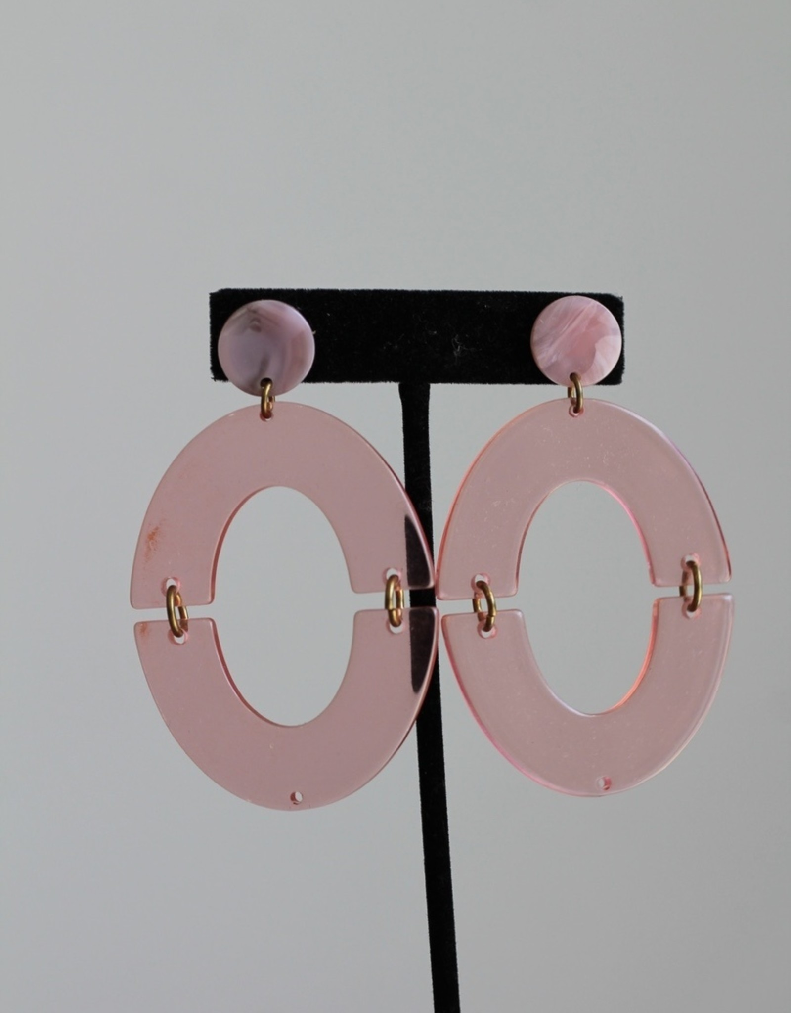 Lucite Orbit Hoops