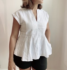 Marie Oliver Pauley Pleated Blouse