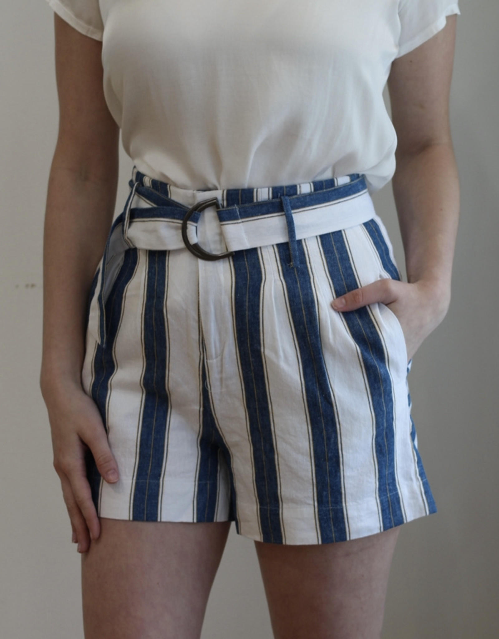 Velvet Heart Navy/Gold Shorts