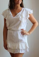 Karina Grimaldi Raffa Metallic Mini Dress