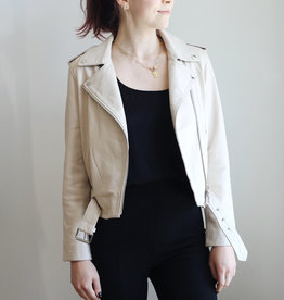 AG Rory Ivory Leather Jacket