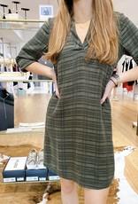 Maven West V-Neck L/S Dress