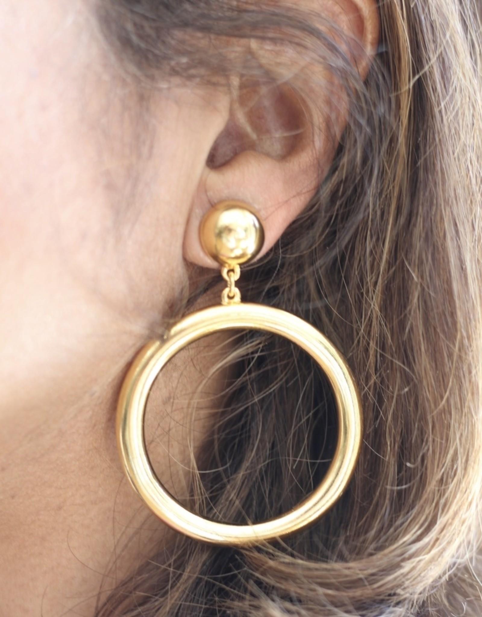 Ben-Amun 50112 Gold Hoop Dangling Earrings