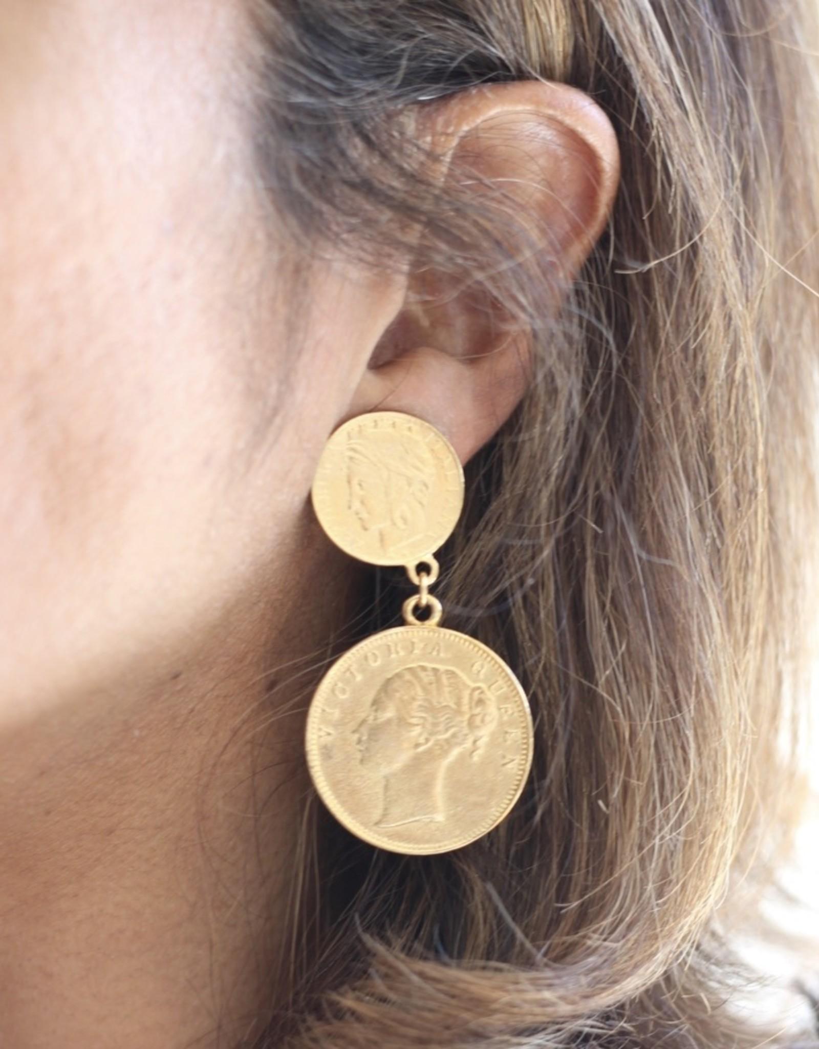 Ben-Amun 49611 Gold Chain Glass Bead Necklace
