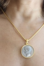 "Ben-Amun 77638 Gold Chain Coin Necklace 18"""