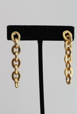 Ben-Amun 20150 Gold Link Long Earrings