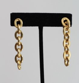 Ben-Amun 20150 Gold Link Long Earrings
