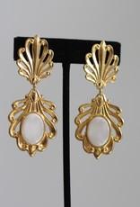 Ben-Amun 49125 Gold Venetian Glass Earrings