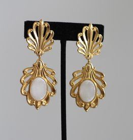 Ben-Amun 49125 Gold Venetian Glass Earrings