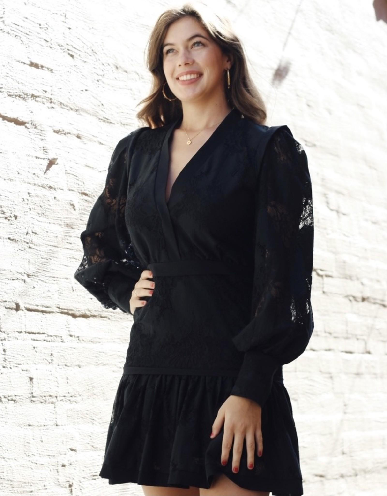 Karina Grimaldi Sophia Lace Mini Dress
