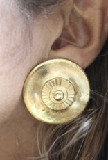 Ben-Amun 91126 Gold Button Earrings