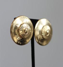 Ben-Amun 91126 Gold Button Earrings
