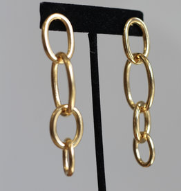 Ben-Amun 91141 Gold LInk Earrings