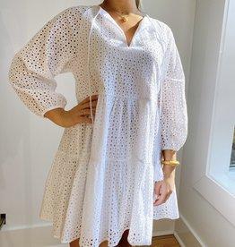 Karina Grimaldi Irina Eyelet Mini Dress