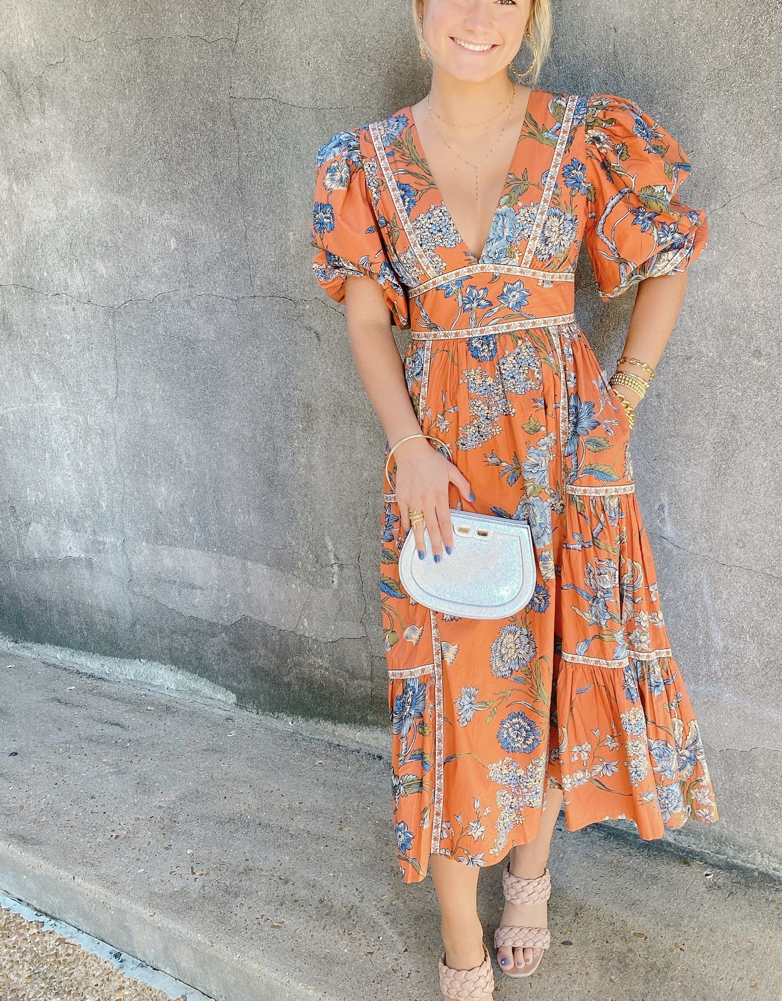 Love the Label Puff Sleeve Maxi Dress