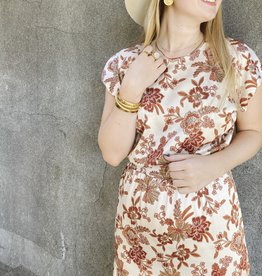 MISA Paulina Dress Falling Flora Satin