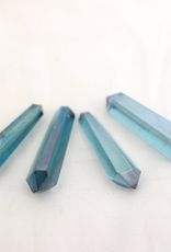 Aqua Aura Double Terminated Point