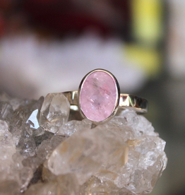 Morganite Ring ~ Faceted Oval small