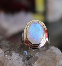 Moonstone Ring ~ Facted Oval