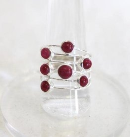 Ruby or Ruby and Lapis Rings ~ Size 8