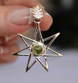 Seven Point Fairy Star Pendant ~ Apatite, Garnet, Peridot, Pink Tourmaline
