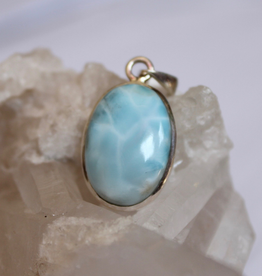 Larimar Pendant, charged in the Full Moon Eclipse in Cancer