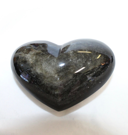 Obsidian Heart Silver Sheen ~ Mexico