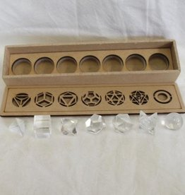 Quartz Sacred Geometry Set ~ 7 pieces, includes merkaba and sphere