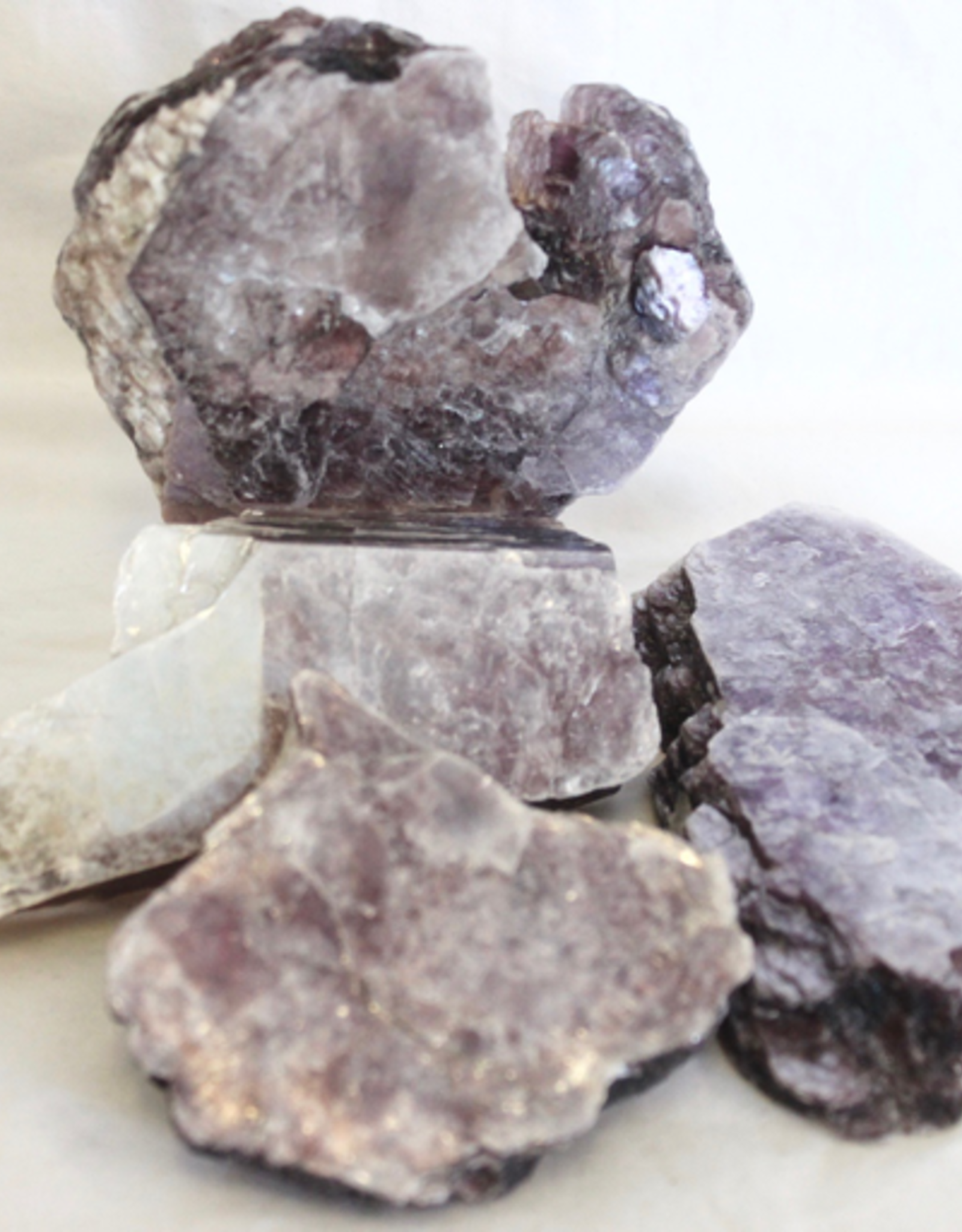Lepidolite Slabs with Muscovite