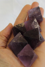 Fluorite Octahedron for soul path wisdom charged in the Full Strawberry Moon Eclipse