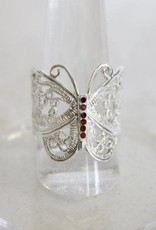 Butterfly Ring with Ruby ~ Size 8